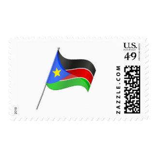 Franqueo del sur de la bandera de Sudán Estampilla