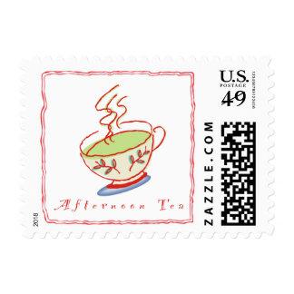 Franqueo del té de tarde sello