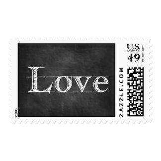 Franqueo del texto de la pizarra del amor