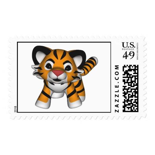 Franqueo del tigre de bebé de Kawaii