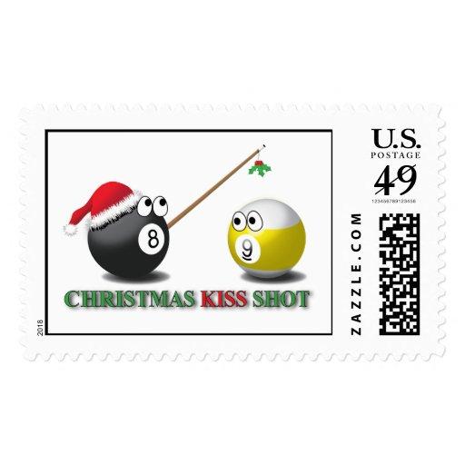 Franqueo del tiro del beso del navidad