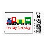 Franqueo del tren del cumpleaños