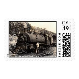 Franqueo del tren del Vintage-Vapor Sellos
