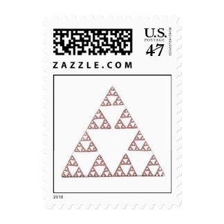 Franqueo del triángulo de Sierpenski Sellos Postales
