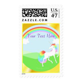 Franqueo del unicornio del arco iris sellos postales