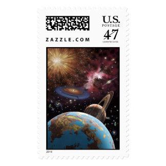 Franqueo del universo II Timbre Postal