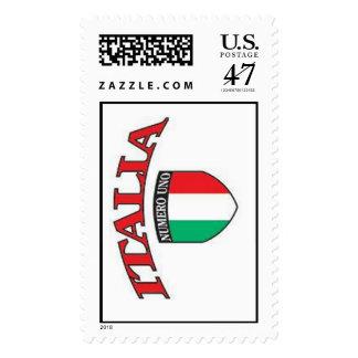 Franqueo del Uno de Italia Numero Timbre Postal
