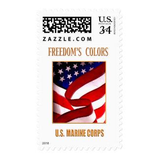 Franqueo del USMC Sello Postal