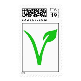 Franqueo del vegano timbres postales