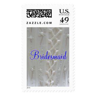 Franqueo del vestido de boda de la dama de honor