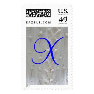 Franqueo del vestido de boda del monograma X