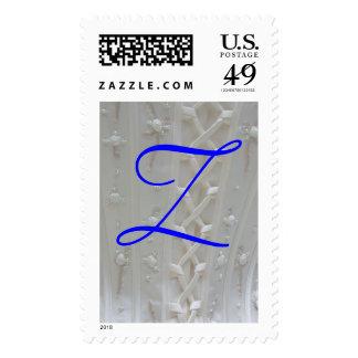 Franqueo del vestido de boda del monograma Z
