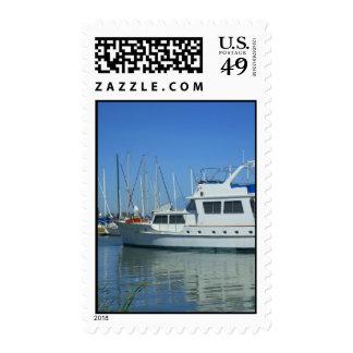 Franqueo del yate sello postal