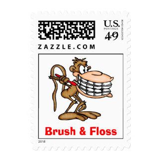 Franqueo dental del mono de la higiene