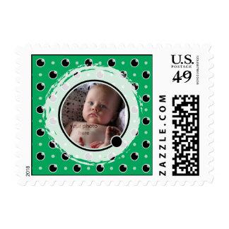 Franqueo descarado de la foto de los lunares - timbre postal