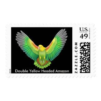 Franqueo dirigido amarillo doble del Amazonas Sello