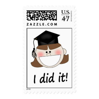 Franqueo divertido de la graduación sello