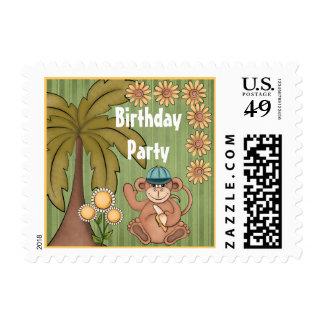 Franqueo dulce de la fiesta de cumpleaños del mono