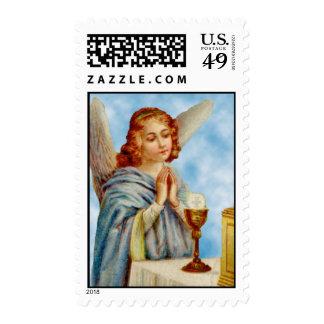 Franqueo: El ángel reflexiona Sello Postal