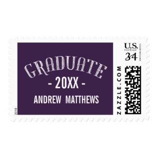 Franqueo el | de encargo retro de la graduación sello