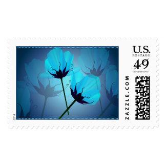 Franqueo eléctrico de dos flores del azul