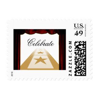 Franqueo elegante de la celebración del estilo de sellos