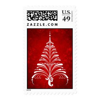 Franqueo elegante del árbol de navidad