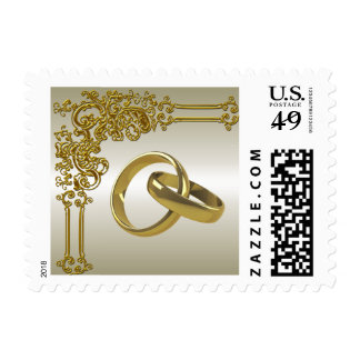Franqueo elegante del boda timbre postal