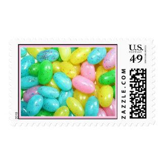 Franqueo en colores pastel de los Jellybeans
