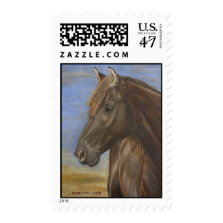 Franqueo español del caballo sello postal