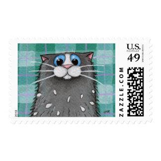 Franqueo estáticamente cargado del gato sellos