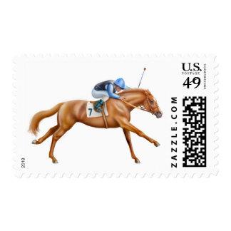 Franqueo excelente del caballo de raza timbres postales