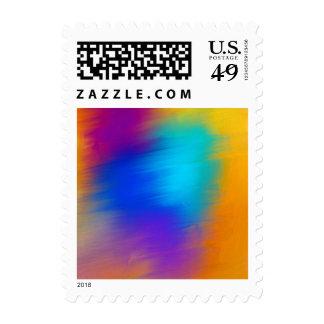 Franqueo fantasmal abstracto expresivo del rostro sellos