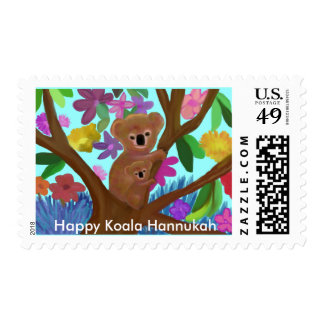 Franqueo feliz de Hannukah de la koala