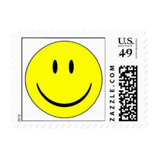 Franqueo feliz de la cara sellos postales