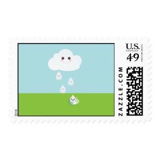 Franqueo feliz de la nube sello