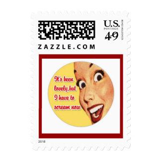 Franqueo feliz del ama de casa de los años 50 dive sellos postales