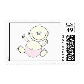 Franqueo feliz del bebé sello postal