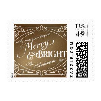Franqueo feliz y brillante del día de fiesta del timbre postal