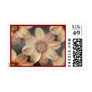 Franqueo floral apacible sellos postales
