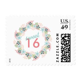 Franqueo floral de la guirnalda del dulce sellos postales