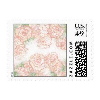 Franqueo floral de los rosas poner crema y rosados