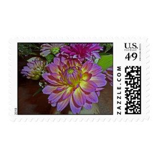 Franqueo floral del arte de la dalia EF