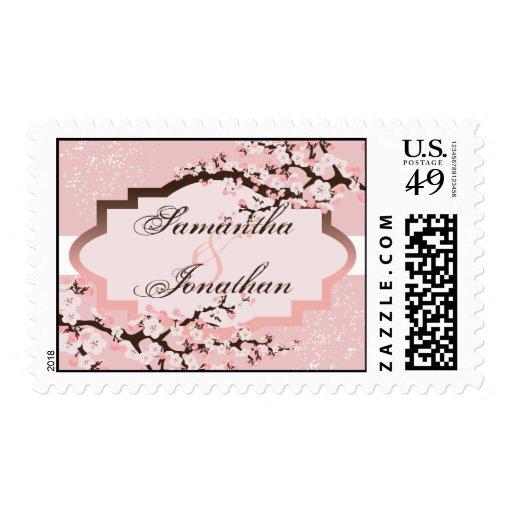 Franqueo floral del boda de la flor de cerezo rosa