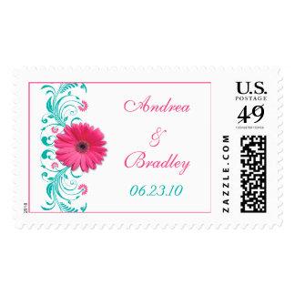 Franqueo floral del boda de la margarita rosada