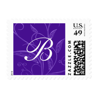 Franqueo floral púrpura del personalizado del
