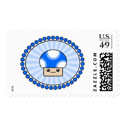 Franqueo fofo del azul de la seta de Kawaii del so