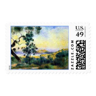 Franqueo francés de la pintura de paisaje de sello postal