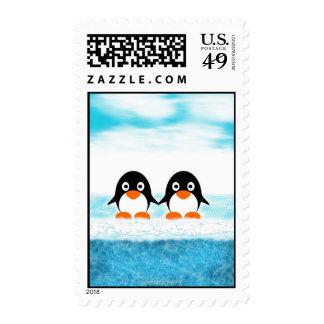 Franqueo fresco del pingüino