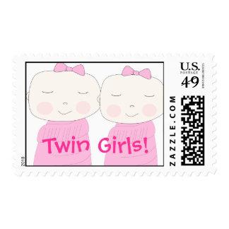 Franqueo gemelo de los chicas timbre postal